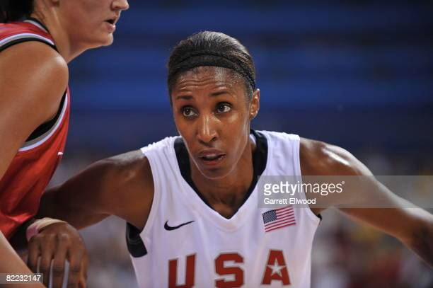 Lisa Leslie of U.S. Women's Senior National Team defends against the Czech Republic during day one of basketball at the 2008 Beijing Summer Olympics...