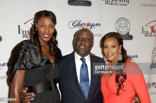 Lisa Leslie Richard Roundtree and Vivica Fox appear on the red carpet at The Wiltern on September 30 2010 in Los Angeles California