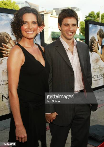 Lisa Linde and husband James Marsden during The Notebook Premiere Red Carpet at Mann Village Westwood in Westwood California United States