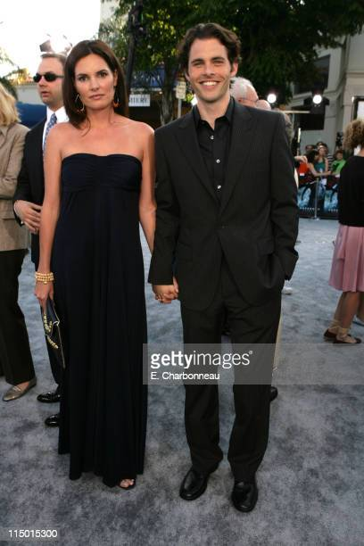 Lisa Linde and James Marsden during Warner Bros World Premiere of Superman Returns at Village and Bruin Theatre in Westwood California United States