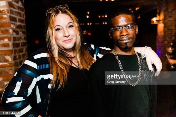 Lisa Lindo and Franklin Johnson attend Hilary Barraford's Birthday Party held at Madame Siam on April 26 2019 in Los Angeles California