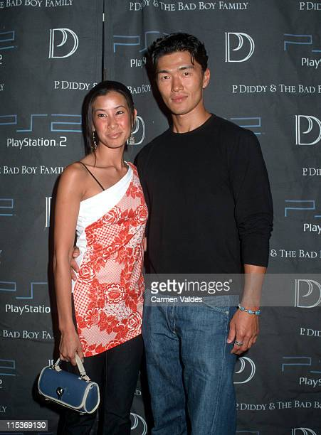 Lisa Ling and Rick Yune during P Diddy The Bad Boy FamilyThe Saga Continues CD Release Party Sponsored By PlayStation 2 at Tao Club in New York New...