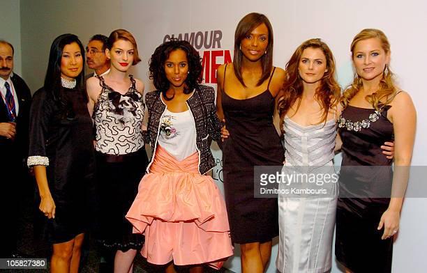 Lisa Ling Anne Hathaway Kerry Washington Aisha Tyler Keri Russell and Jessica Capshaw