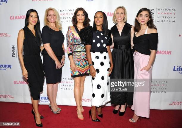 Lisa Ling Gwynne Shotwell Bellamy Young Kerry Washington Marne Levine and Rowan Blanchard at the Women Making History Awards at The Beverly Hilton...