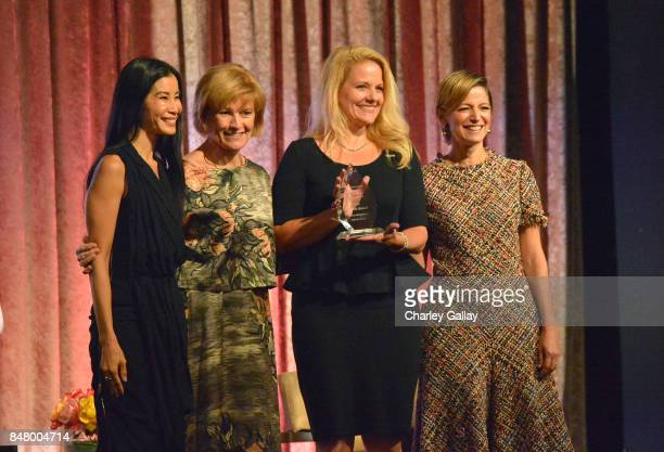 Lisa Ling Joan Wages Gwynne Shotwell and Cynthia Leive onstage at the Women Making History Awards at The Beverly Hilton Hotel on September 16 2017 in...
