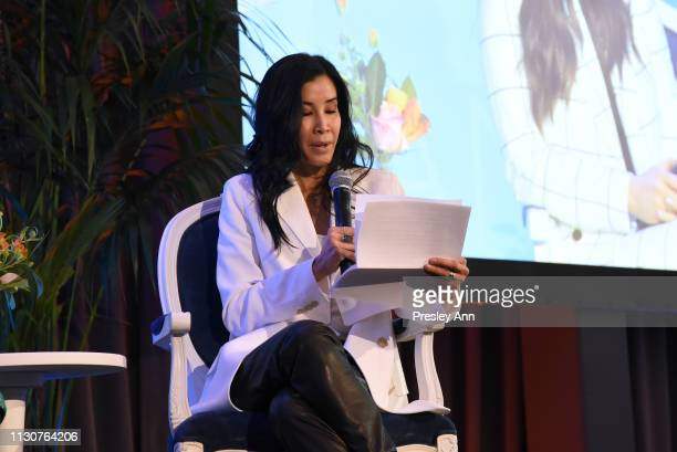 Lisa Ling speaks onstage during Raising Our Voices Supporting More Women in Hollywood Politics at Four Seasons Hotel Los Angeles in Beverly Hills on...