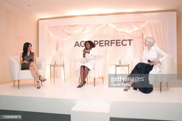 Lisa Ling, Viola Davis and Helen Mirren join LOréal Paris to celebrate the launch of Age Perfect Cosmetics on March 03, 2020 in Beverly Hills,...