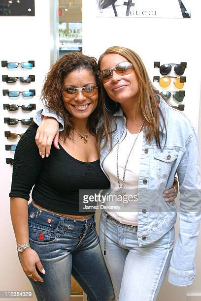 Lisa Lisa Angie Martinez during Angie Martinez and Lisa Lisa at the Grand Opening of Solstice Eyewear Store in Midtown Manhattan at Solstice in New...