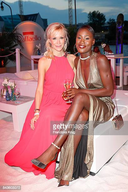 Lisa Loch and Aminata Sanogo attend the Raffaello Summer Day 2016 to celebrate the 26th anniversary of Raffaello on June 24 2016 in Berlin Germany