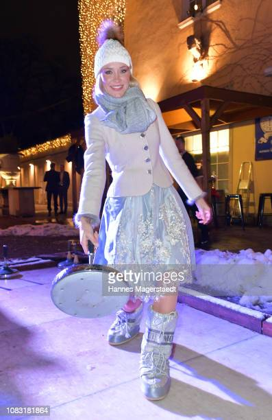 Lisa Loch attends the Angermaier 'Eisstock WM' at Park Cafe on January 15 2019 in Munich Germany