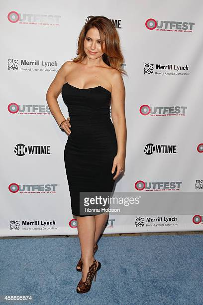 Lisa LoCicero attends the 2014 Outfest Legacy Awards at Vibiana on November 12 2014 in Los Angeles California