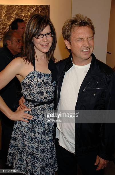 Lisa Loeb and Andy Summers during Andy Summers of The Police Photo Exhibit at Frank Pictures Gallery in Santa Monica California United States