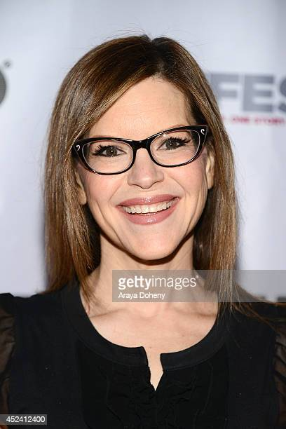 Lisa Loeb attends the 2014 Outfest Los Angeles screening Of 'Helicopter Mom' at Ford Theatre on July 19 2014 in Hollywood California