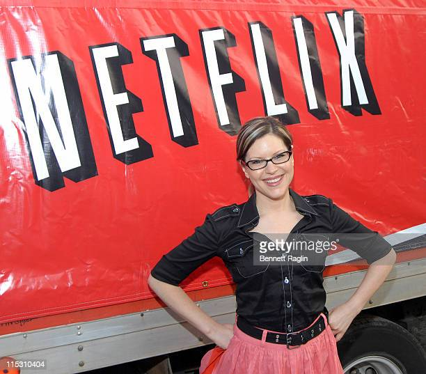 Lisa Loeb during Lisa Loeb Hosts the 'Netflix Rolling Roadshow' Screening for The Warriors at Asser Levy Park in Brooklyn New York United States