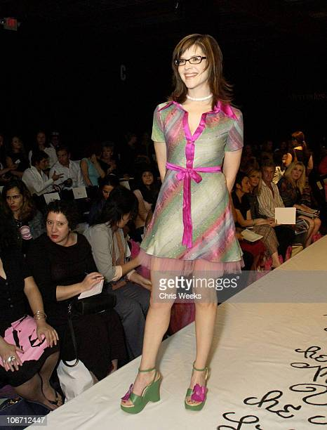 Lisa Loeb during MercedesBenz Shows LA Fashion Week Spring 2004 Petro Zillia Backstage Front Row and Show at The Standard Hotel Downtown in Los...
