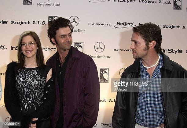 Lisa Loeb Dweezil Zappa and Jason Priestley during 3rd Annual Project ALS Spring Benefit Gala Dinner Sponsored by InStyle Arrivals at The Lodge at...