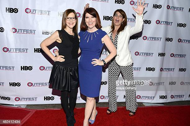 Lisa Loeb Kate Flannery and Nia Vardalos attend the 2014 Outfest Los Angeles screening Of Helicopter Mom at Ford Theatre on July 19 2014 in Hollywood...