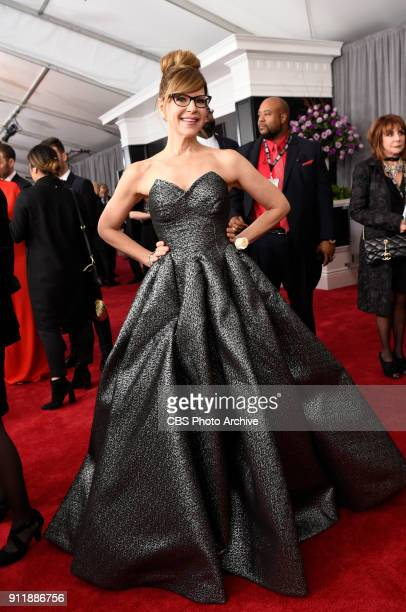 Lisa Loeb on the red carpet at THE 60TH ANNUAL GRAMMY AWARDS broadcast live on both coasts from New York City's Madison Square Garden on Sunday Jan...