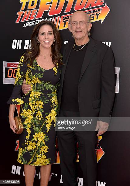Lisa Loiacono and Actor Christopher Lloyd attend the Back To The Future New York special anniversary screening at AMC Loews Lincoln Square on October...