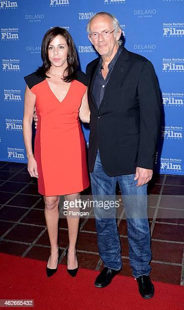 Lisa Loiacono and actor Christopher Lloyd attend the Virtuosos Award at the 30th Santa Barbara International Film Festival at the Arlington Theater...