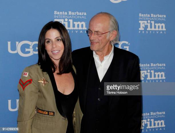 Lisa Loiacono and Christopher Lloyd attend the 33rd Annual Santa Barbara International Film Festival Virtuosos Award Presentation at Arlington...