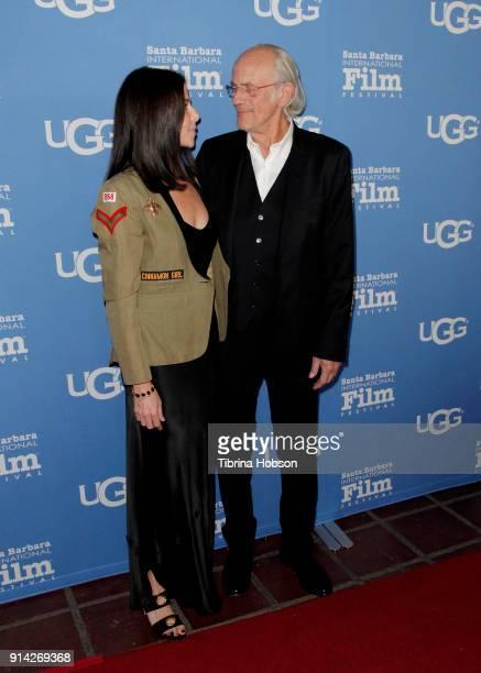 Lisa Loiacono and Christopher Lloyd attend the 33rd Annual Santa Barbara International Film Festival Virtuosos Award Presentation at Arlington...