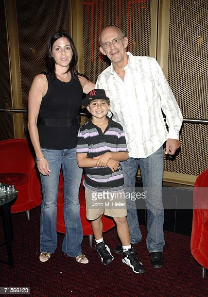 Lisa Loiacono Jacob Greenspan and Christopher Lloyd attend Hollywood's Master Storytellers Series Back To The Future Parts 2 3 at Grauman's Chinese...