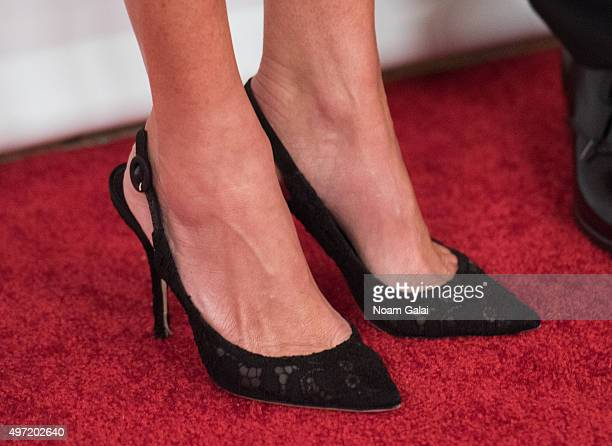 Lisa Loiacono shoe detail attends the Michael J Fox Foundation's A Funny Thing Happened On The Way To Cure Parkinson's Gala at The Waldorf=Astoria on...