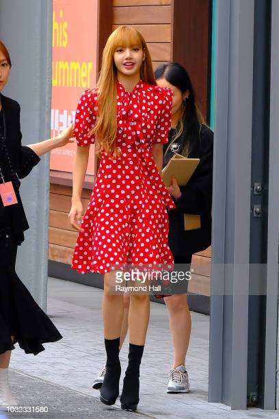Lisa Look is seen arriving to Michael Kors Collection SS19 fashion show during New York Fashion Week at Pier 17 on September 12 2018 in New York City