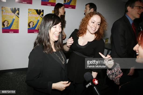 Lisa Loomer and guest attend Opening night of DISTRACTED at Laura Pels Theatre on March 4 2009 in New York City