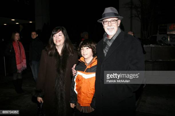 Lisa Loomer Marcello Romano and Joe Romano attend Opening night of DISTRACTED at Laura Pels Theatre on March 4 2009 in New York City