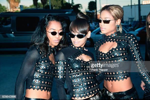 Lisa Lopes of the Grammywinning trio TLC died in a car crash in Honduras April 25 2002 TLC is shown here at the 2nd Annual Blockbuster Entertainment...