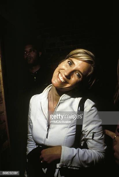 DJ Lisa Loud smiling at Fabric London UK 2000s