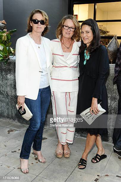 Lisa Love Ann Philbin and Katherine Ross attend Band of Outsiders and Bon Appetit Host A Dinner In Celebration Of The Publication Of Kevin West's...