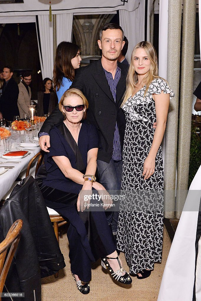 Lisa Love, Jonathan Saunders, and Nathalie Love attend Lisa Love Hosts Dinner For Jonathan Saunders, New Chief Creative Officer Of Diane Von Furstenberg at Chateau Marmont on November 10, 2016 in Los Angeles, California.