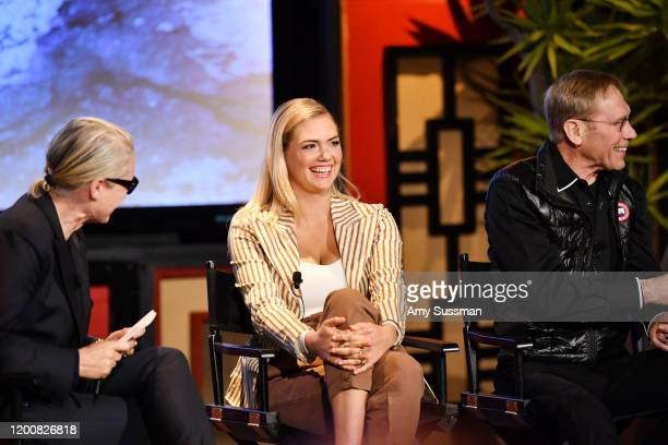 Lisa Love West Coast Director of Vogue and Teen Vogue Kate Upton and Dr Steven Amstrup Chief Scientist at Polar Bears International attend the Vogue...