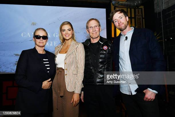 Lisa Love West Coast Director of Vogue and Teen Vogue Kate Upton Dr Steven Amstrup Chief Scientist at Polar Bears International and Max Lowe director...