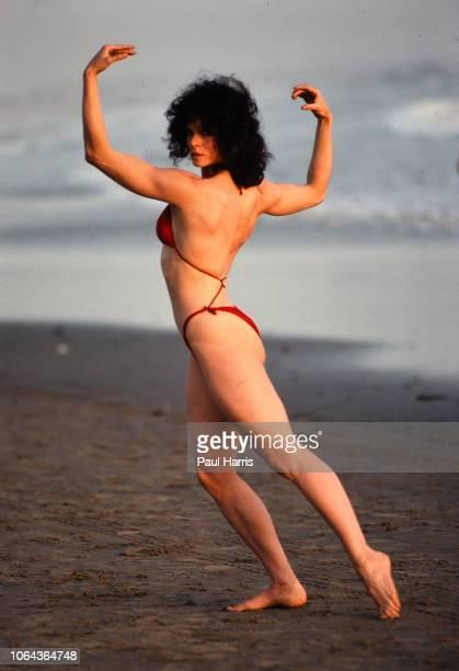 nSANTA MONICA CA NOVEMBER 8 Lisa Lyon entered and won the first International Federation of BodyBuilders Womenu2019s World Pro Bodybuilding...
