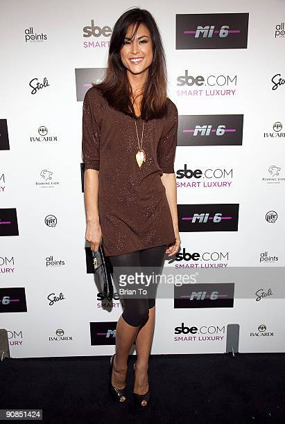 Lisa Mae attends Mi6 Nightclub Grand Opening Party on September 15 2009 in West Hollywood California