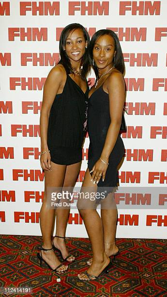 Lisa Maffia and her sister Shona during FHM Top 100 Sexiest Women 2004 at Guild Hall in London Great Britain