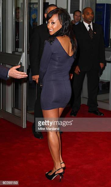 Lisa Maffia attends the UK Premiere of 'Dead Man Running' at Odeon Leicester Square on October 22, 2009 in London, England.