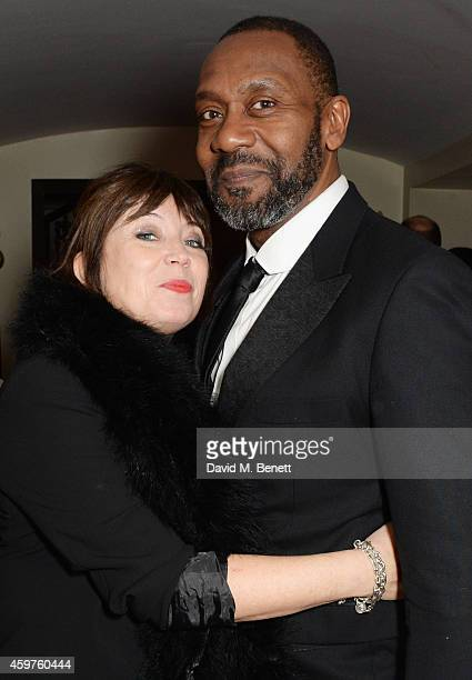 Lisa Makin and Lenny Henry attend an after party following the 60th London Evening Standard Theatre Awards at the London Palladium on November 30...