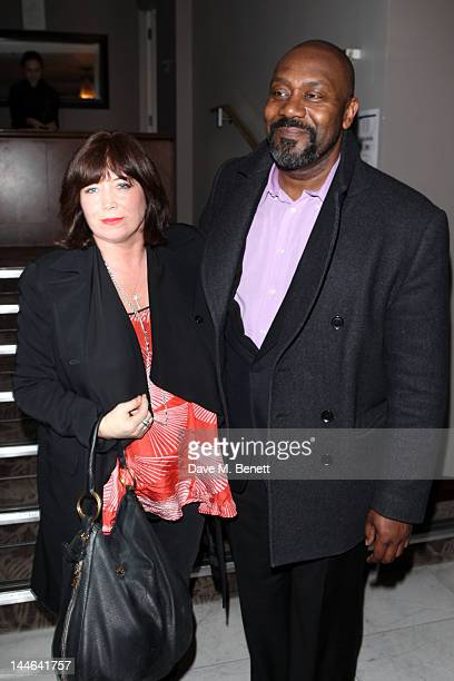 Lisa Makin and Lenny Henry attend the after party for What The Butler Saw at the The Waldorf Hilton Hotel on May 16 2012 in London England