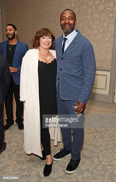 Lisa Makin and Lenny Henry attend the The South Bank Sky Arts Awards airing on Wednesday 8th June on Sky Arts at The Savoy Hotel on June 5 2016 in...