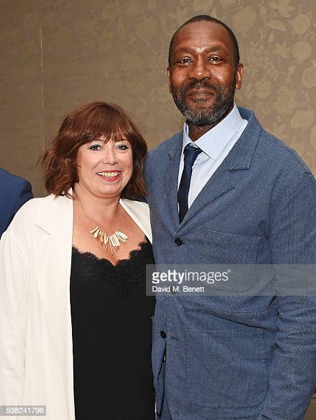Lisa Makin and Sir Lenny Henry attend the The South Bank Sky Arts Awards airing on Wednesday 8th June on Sky Arts at The Savoy Hotel on June 5 2016...