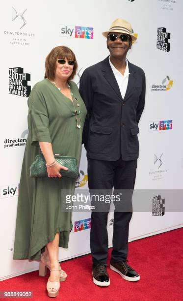 Lisa Makin and Sir Lenny Henry attends The Southbank Sky Arts Awards 2018 at The Savoy Hotel on July 1 2018 in London England