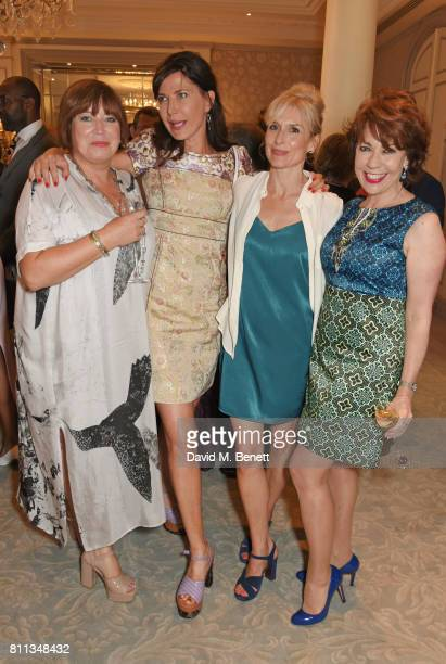 Lisa Makin Ronni Ancona Amelia Bullmore and Kathy Lette attend The South Bank Sky Arts Awards drinks reception at The Savoy Hotel on July 9 2017 in...