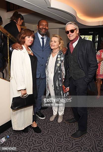 Lisa Makin Sir Lenny Henry Sinead Cusack and Jeremy Irons attend the The South Bank Sky Arts Awards airing on Wednesday 8th June on Sky Arts at The...