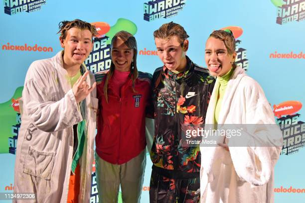 Lisa Mantler Lena Mantler and Marcus Gunnarsen and Martinus Gunnarsen of the Norwegian music duo Marcus Martinus are seen backstage at the...