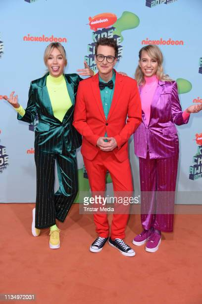 Lisa Mantler Lena Mantler and Sascha Quade attend the Nickelodeon Kids Choice Awards on April 4 2019 in Rust Germany